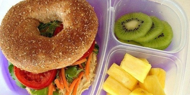 School Lunch Project: Hummus Bagel Sandwiches   HuffPost Life