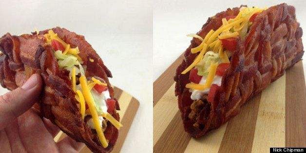 How to Make Your Own Bacon Weave Taco