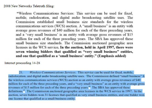 Did AT&T, Verizon, Et al., Garner Over $17 Billion in 'Very Small Business' Spectrum Licenses?