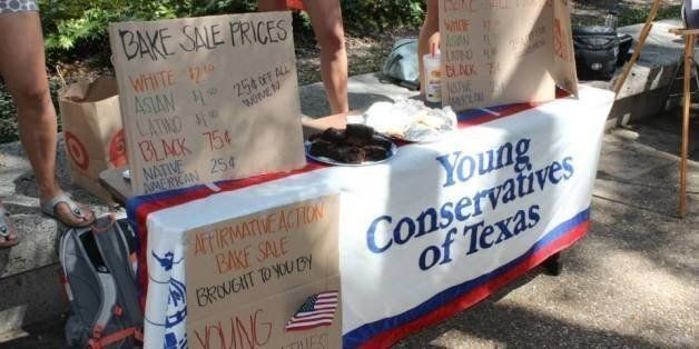 University Of Texas Conservative Students Hold Affirmative Action Bake Sale