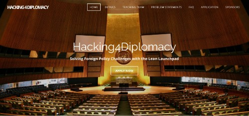 Hacking for Diplomacy - Solving Foreign Policy Challenges with the Lean LaunchPad
