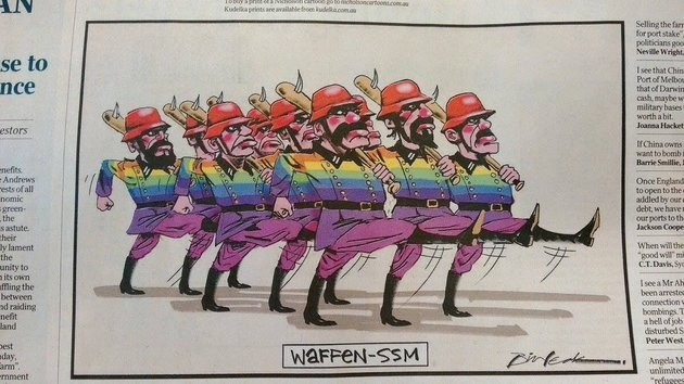 Gay Marriage Cartoon Compares LGBT Supporters To Nazis, Gets Shut Down By Rival Cartoonist