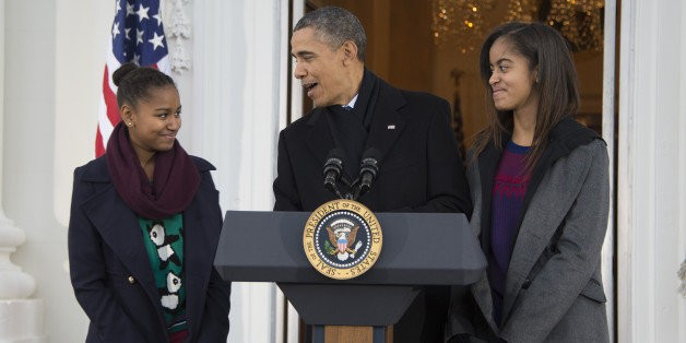 Sasha And Malia Obama Poke Fun At Their Dad's Clothing Choices | HuffPost Life