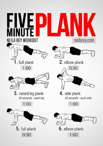 Visual Workout: Five-Minute Plank to Abs of Steel