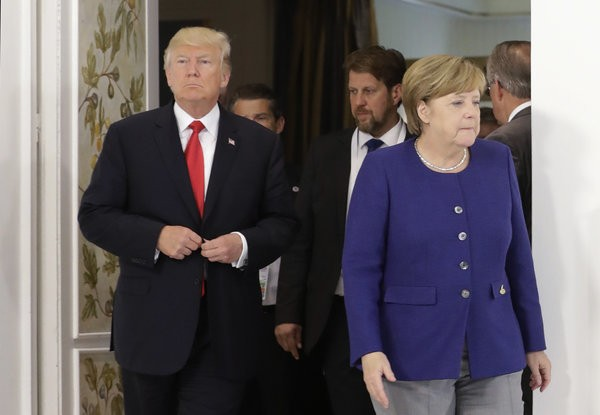 Trump's Latest Meeting With Angela Merkel Looked Even More Awkward Than His First