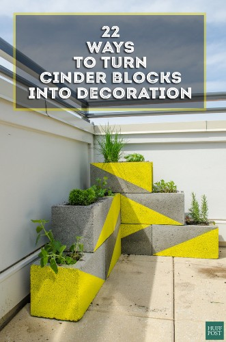22 DIY Cinder Block Projects That Are Anything But Boring | HuffPost Life