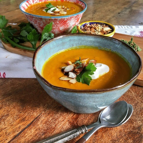 This Roasted Carrot Soup Recipe Transports You Into Monet's Garden