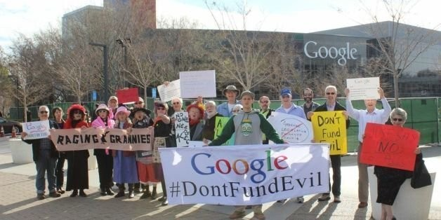 Protesters Demand Google Stop Funding Climate Change Deniers