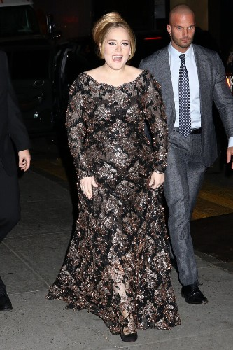 Adele Sparkles In A Dramatic Dress At Her Radio City Show   HuffPost Life