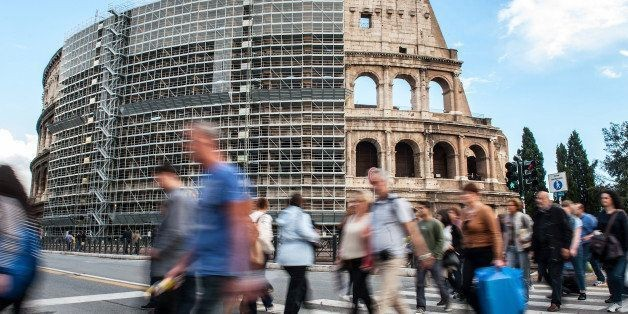 Colosseum Renovations Set To Begin, Rome Attraction Covered In Scaffolding (PHOTOS)