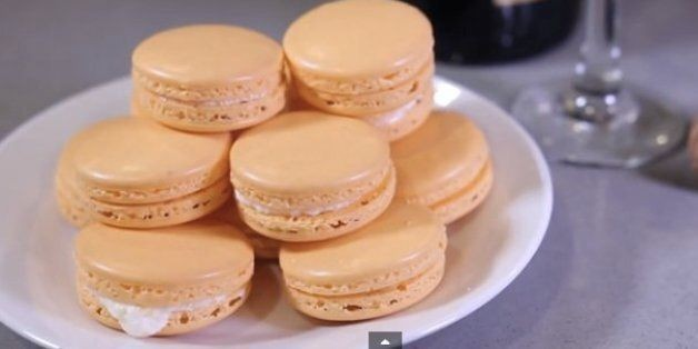 How to Make Mimosa Macarons With Champagne Butter Cream | HuffPost Life