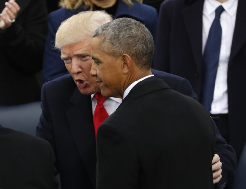 Trump Says He 'Fell Asleep' During Obama's Critical Speech