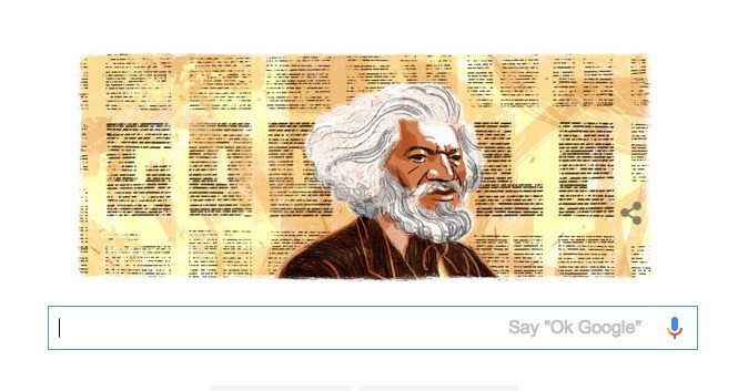 Today's Google Doodle Is Honoring Frederick Douglass
