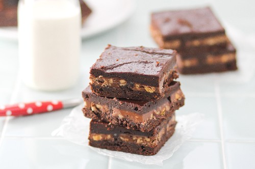 Gooey Layered Symphony Brownies