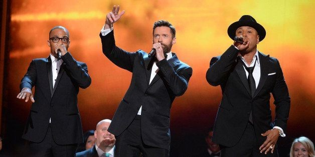 Hugh Jackman Rapped A 'Music Man' Song With LL Cool J And T.I. At The Tonys