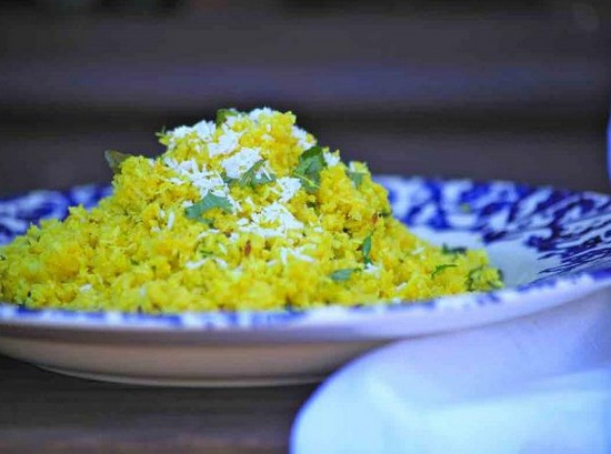 Cauliflower 'Rice' With Cumin and Coconut