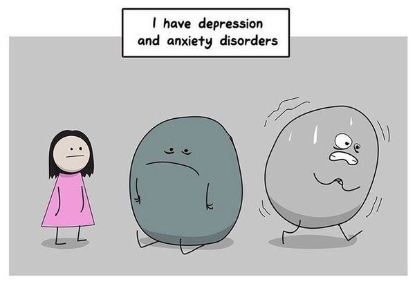 How It Really Feels To Have Anxiety And Depression, In One Comic