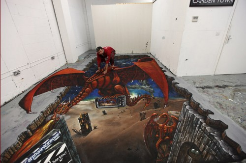 Incredible 3D Chalk Art: The Best Apocalyptic Pavement Murals (PHOTOS)