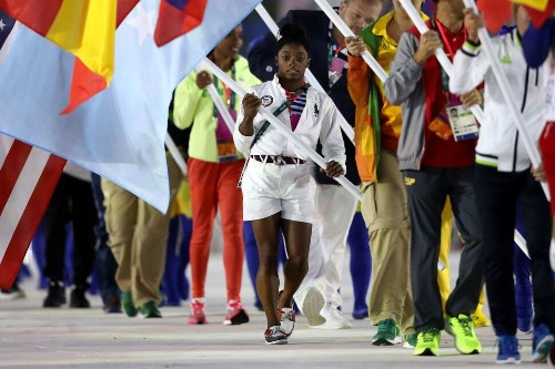 Simone Biles Was The U.S. Flag-Bearer At The Closing Ceremony And It Was Glorious