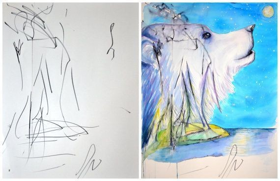Mom Turns Her 3-Year-Old's Drawings into Incredible Art