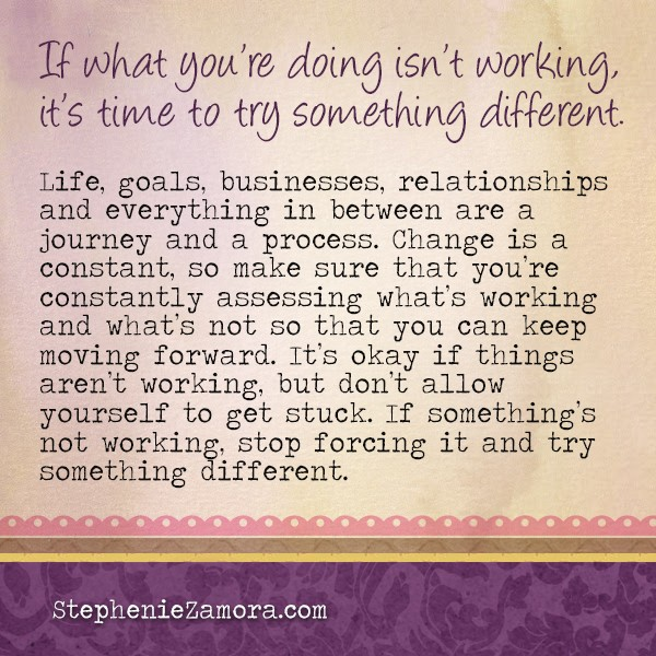 What to Do When Things Aren't Working