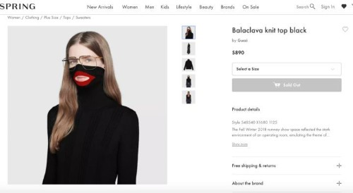 Gucci Apologizes For Black Balaclava Sweater That Resembles Blackface Caricatures