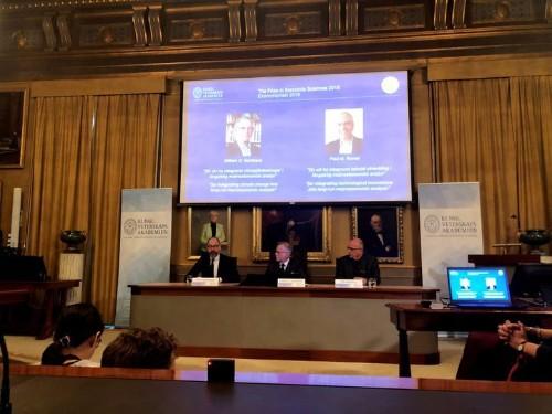 William D. Nordhaus, Paul M. Romer Win Nobel Memorial Prize In Economics