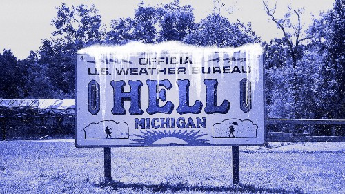 Polar Vortex Causes Hell to LITERALLY Freeze Over in Michigan