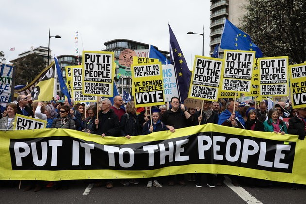 People's Vote March Live Updates: Thousands Descend On Central London