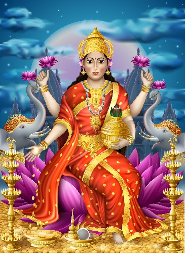Lakshmi Magic on Diwali: May You Be Blessed With Wealth and Good Fortune