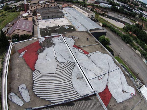 This Sleepy Street Art Is Best Viewed From The Sky
