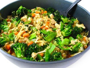 Chicken and Veggies Stir Fry: Low Calorie and Super Yummy