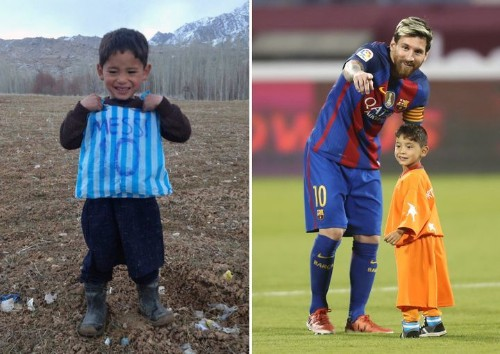 Afghan Boy Who Made A Lionel Messi Jersey From A Plastic Bag Finally Meets His Hero