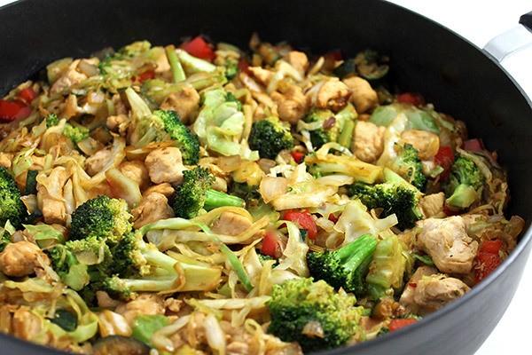 Deliciously Skinny, Chicken and Veggie Stir-Fry