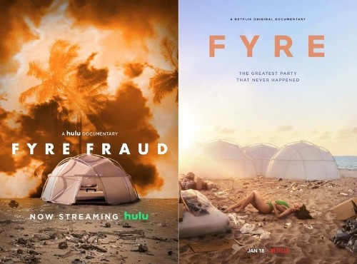With The Arrival Of 'Fyre,' The Netflix vs. Hulu Documentary Feud Continues