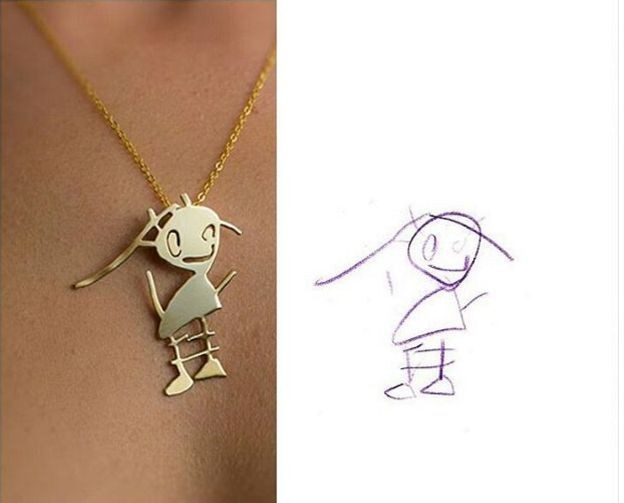 These Artists Turn Your Kids' Doodles Into Wearable Jewelry