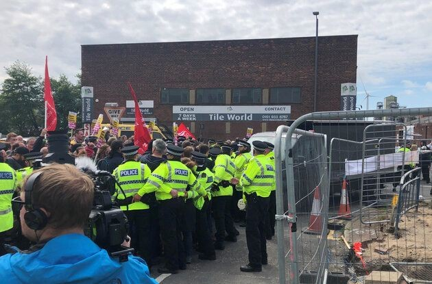 Tommy Robinson's Campaign Van Targetted With Eggs And Milkshake In Bootle, Merseyside