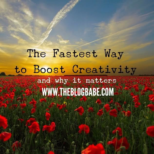 The Fastest (and Cheapest) Way to Boost Creativity and Why it Matters