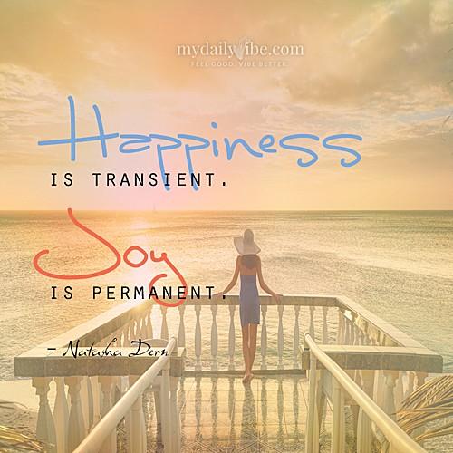 My Daily Vibe: Happiness vs. Joy