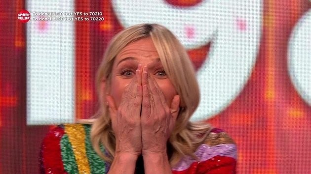 Zoe Ball Moved To Tears As She Discovers Sport Relief Cycle Total
