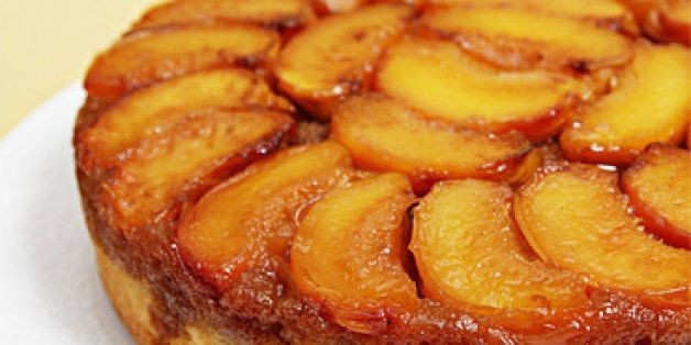 Peach Upside-Down Cake With Cognac Caramel | HuffPost Life