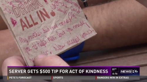 Waiter Gets Massive Tip After Being Kind To A Grieving Widow