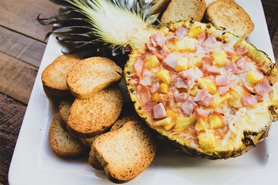 How to Make Hawaiian Pizza Dip Using a Pineapple Bowl