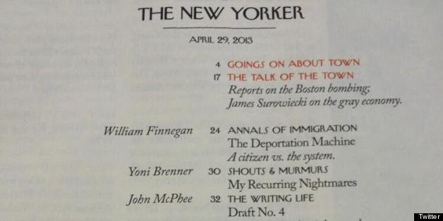 New Yorker April 29, 2013 Issue Features Almost All Male Writers