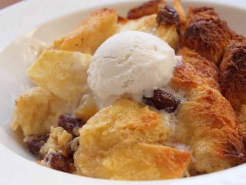 Healthy Pear Bread Pudding-L.O.V.E. Approved