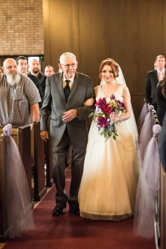 Grandpa Walks Wife, Daughter And Granddaughter Down The Aisle In Same Dress
