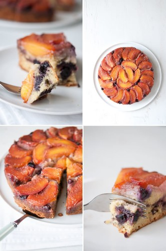 Easy Pretty - Nectarine-Blueberry Upside Down Cake