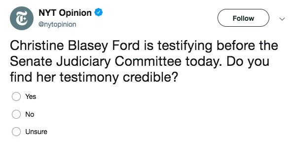 Why Did Christine Blasey Ford Have To Perform Her Victimhood For Us?
