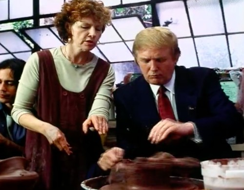 Donald Trump Sucks At Pottery, Excels At Creeping Out Women In Throwback Commercial
