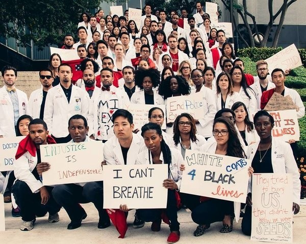 #WhiteCoats4BlackLives: Health Care Workers Stage Nationwide Protests Against Police Brutality